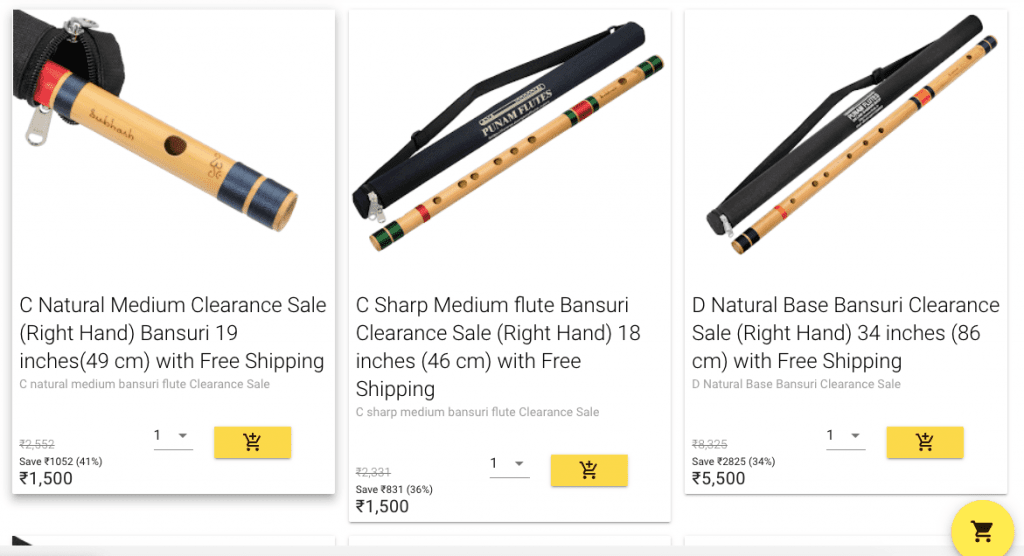 Punam Flutes Low Price Discount