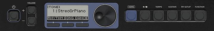 CT-S300 Keyboard LCD Navigation
